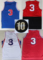 Wholesale Philly Allen Iverson Anniversary Throwback Basketball Jersey With Stitched Name and Number