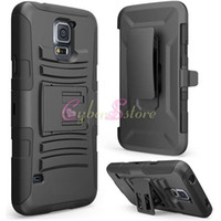 Wholesale Samsung Galaxy S5 Hard Case Cover Future Armor Holster Shockproof Protector Combo All Carriers