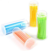 False Eyelash Semi-Hand Made Other Wholesale-Free shipping 1200pcs Disposable Dental Micro Brush Swabs for Eyelash Extension Application and Removal