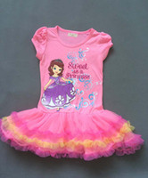 New arrivals Frozen Girls Tutu Dresses Baby Summer Cartoon F...
