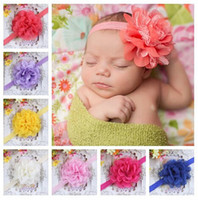 Wholesale Hot selling girls headband baby flower hairband children Double fabric elastic hair band factory direct sale