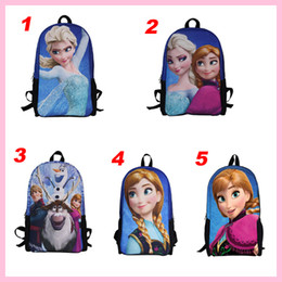 Wholesale 5styles new Frozen princess children bags student Polyester school bags cartoon Both shoulders backpacks
