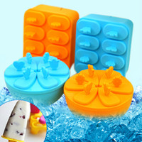 Ice Cream Tubs Plastic ECO Friendly 2014 New Design DIY Ice Cream Mould Cup Non-toxic Ice Lolly Maker Portable Kitchen Gadgets 6set lot SH662