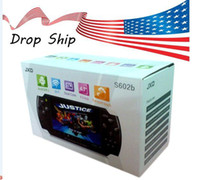 Wholesale DHL Free chheap Brand game console Xmas Gift JXD S602B Game Console Tablet PC Inch Dual Core Android GB MP3 MP4 Player Camera