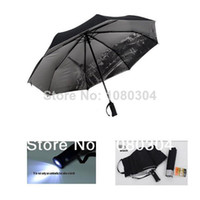 190T Nylon Fabric Raining Umbrellas Wholesale-three elephant LED light Umbrella men Torch rain umbrella men UV Protection Women umbrella