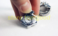 Wholesale 20pcs Fashion stylish Stainless Steel Finger watch Stretch Ring Watch Gem clamshell fashion ring table