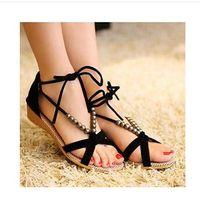 Women Flat Heel Cotton cloth 2014 Summer Fashion Slippers Women Sandals Flops Flat Shoes Open Toe Women Wedges Sandals Women's Sandals Free Shipping t043