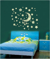 baby star bedding - Glow in the Dark Moon Stars Wall Bed Stickers Decal Baby Kid Home Room Nursery