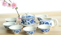 Wholesale 8pcs Delicate Tea Set Qinghua Teapot Blue and White Porcelain Teaset A2TQ07