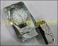 Wholesale 2pcs lighters creative watches the lighter electronic watches windproof lighter straight lighter