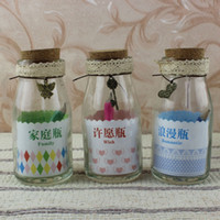Ordinary glass Drawing Be Creative with bronze lace cute little gadget contains pencil wholesale glass bottle cork drifting vow