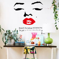 Wholesale Large Marilyn Monroe Wall Decals for Girl Room Decorations PVC Wall Stickers Quotes Home Decor Photo Wallpaper Wall Art Poster