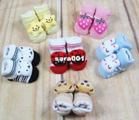 Wholesale New Popular Dimensional Doll Baby Animal Socks pairs dozen Non slip Bottom Children Kid s Gift