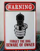 Metal metal art - TS008 Gun Warning Retro Metal Tin Signs Bar Pub Cafe Home Art Decor Metal Painting
