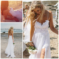 Beach 2014 Wedding Dresses Sexy Backless White Spaghetti See...
