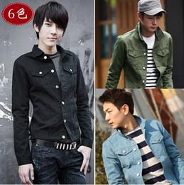 Wholesale Classic Hot Sale Fashion Chest Pockets Single Button Lapel Joker Long Sleeve Men s Jacket