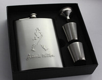 Wholesale Men carry flagon flagon oz stainless steel hip flask outdoors wine funnel