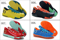 Low Cut Unisex PU 9 Colors Free Shipping New Model Air Kevin Durant KD 6 VI Children Boys Girls Kids Basketball Sport Footwear Sneakers Trainers Shoes