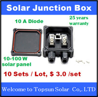 Wholesale High quality sets Solar Junction Box A diode TUV PV Junction Box For solar PV Panel MC4 connector