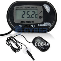 Wholesale LCD Digital Fish Tank Aquarium Temperature Thermometer Water Terrarium Black TK0215