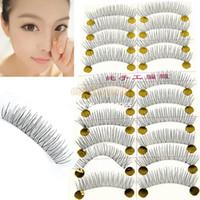 Wholesale Top Quality Pairs Handmade Fake Eyelashes False Eyelash Natural Look Transparent Stem