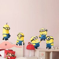 Wholesale Despicable Me Minion Movie Decal Removable Wall Sticker D Cartoon toHome Decor Art Kids Nursery Loving Gift High quality