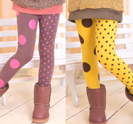 Wholesale 2014 spring of han edition brand children s clothes Children leggings polka Dots leggings girls wave point render pants