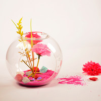 Wholesale mxmade creative European round clear glass vase hydroponic hanging flower ornaments fashion jewelry at home