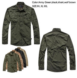 Wholesale Tactical Outdoor sports Combat quick dry breathable full sleeve Cycling Camping Fishing Hunting men s Quick drying fabric shirts