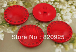 Wholesale 10 X mm Red Resin Shimmering Big Buttons Sewing Craft