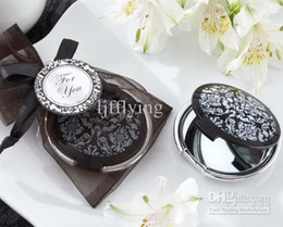 Wholesale quot Reflections quot Elegant Black and White Mirror Compact Damask Compact Mirror