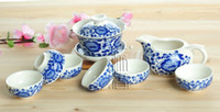 Ceramic porcelain teapot white - 8pcs Delicate Tea Set Qinghua Teapot Blue and White Porcelain Teaset A2TQ08