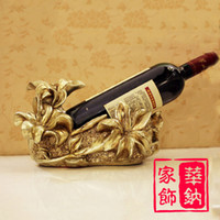 Wholesale European household resin ornaments crafts creative gift ideas idyllic flower vine Wine Accessories