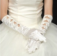 Wholesale 1 pairs Ladies Stretchy Satin gloves wedding bridal opera Gloves H008