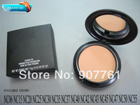 Wholesale 1PCs Brand MC Makeup Studio Fix Powder cake Plus Foundation compact foundat face powder puffs g drop ship
