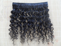 Wholesale brazilian virgin curly hair weft clip in kinky curl weaves one set unprocessed natural black color human extensions can be dyed piece
