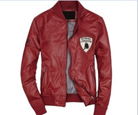 Jackets Men Real Leather 2014 hot sale New Slim Sexy Top Designed Mens Pu Leather Jacket Coat xxl xxxl