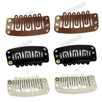 Wholesale Weft Hair Extensions Clips Wig Weft Hair Clip Tool mm Black Brown Beige