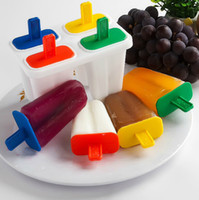 Ice Cream Tubs lollies - Hot Sale Non toxic Ice Cream Pop Mold Popsicle Maker Lolly Mould Tray DIY Kitchenware set SH665