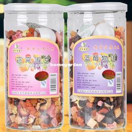 Wholesale-500g 2 tank flower fruit tea 2 kinds different flavor tea blueberries +tea strawberry green fruit tea beauty products