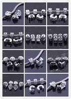 Metals antique silver beads - 100PCS Antique Silver plated Metal Clips Lock Stopper European Beads Fit Charm Bracelet Chain Jewelry Findings