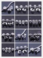 al por mayor cadena de pulsera de metal-La plata antigua 100PCS / LOT plateó los granos europeos del tapón de la cerradura de los cerrojos de la cerradura cupieron los resultados de la joyería de la cadena de la pulsera del encanto