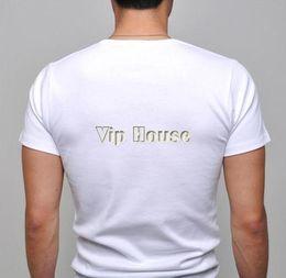 Wholesale-2014 Men's Stylish Casual V-Neck Short sleeve Slim cotton T-shirt Black, White, Gray, Purple Sizes S M L XL 3324