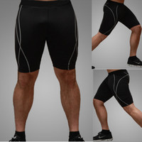 Wholesale New Men Compression Tights Base Layer Running Fitness Cycling Soccer Lycra Men Sports Wear Short Jersey Suit QUICK DRY Shorts JJ06