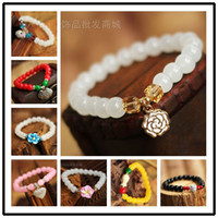 Charm Bracelets Other Pretty black onyx diamond garnet crystal free shinppingThe new Chinese style gold-plated bracelet Korean version of the small gray chalcedony jewelry wholesale jewelry simple little