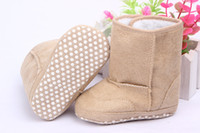 Wholesale 2014 new style Baby Boots Infant Snow Boots Kid Antiskid Soft Sole Shoes Children Winter Boots Shoes
