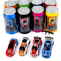 Wholesale Free DHL EMS color Mini Racer Remote Control Car Coke Can Mini RC Radio Remote Control Micro Racing Car children toy Gift