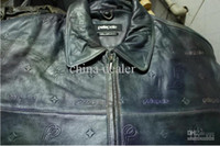 Wholesale new arrival quality PELLE PELLE men s hip hop leather jacket size color blue brown