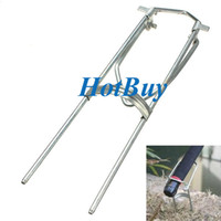 Gear fishing pole holder - Moveable Metal Rod Pole Bracket Holder Fishing Simple Hand Stand