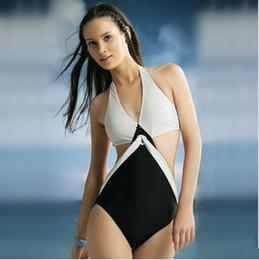 Descuento xl negro tankini Sexy Lin Tai bikini traje de baño blanco y negro Split correa Push Up traje de baño Moda mujer Beach Tankini Beachwear YZ006